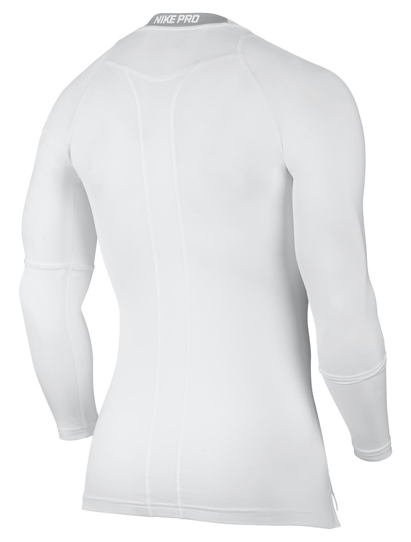 Nike Cool Compression Langarm Top weiß matte silver Herren T