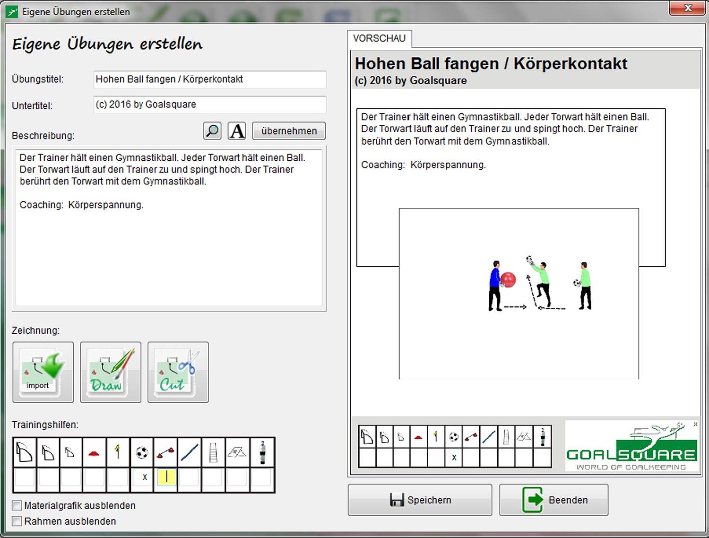 Goalsquare - Software für den Torwarttrainer bei torwart.de